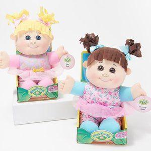 """S/2 Hug n Snuggle 12"""" Soft Boddied Dolls"""